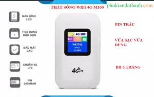 Phát sóng wifi từ sim 4G LTE A900 model M100 có màn hình LCD - Hỗ trợ vừa sạc vừa dùng