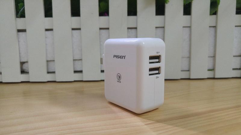 Cốc sạc Pisen 2 cổng USB 2A